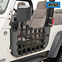 EAG Matrix Steel Tubular Door with Side View Mirror Fit for 97-06 Jeep Wrangler TJ