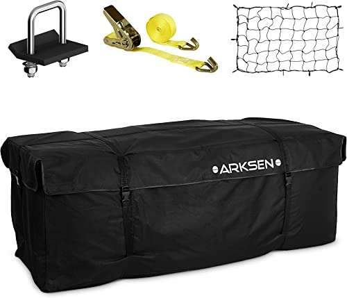 2021 ARKSEN new arrival Water Proof Cargo Bag, Cargo Net, Heavy Duty 304 Stainless Steel Hitch Tightener Anti-Rattle Stabilizer, 16FT Ratchet Lashing Straps Combo lowest Set outlet sale