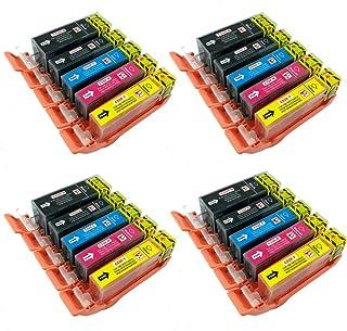 PerfectPrint - 20 PGI-525 CLI-526 cartuchos de tinta compatibles para CANON Impresora PIXMA MG5250 MG6250 MG5350 MG6150 MG5200 IX6550 MG5150 IP4850 iP4950 MG6100 MG8150 MG8250 MX895 iP4800 MX715 MG5300 IX6250 MX882 iP4840 MG6120 MG6220 MG8220 MG5100 MG5120 MG8120 MG8170 MX885