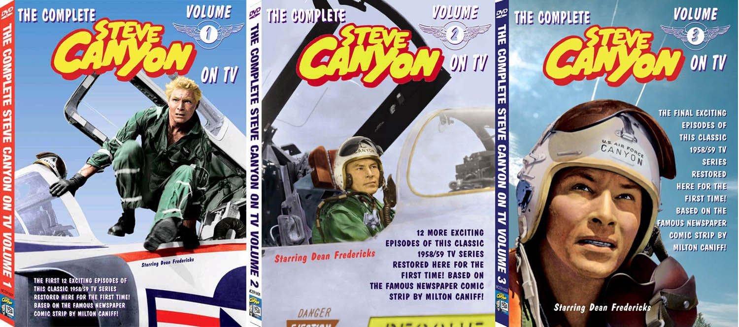 Reservation The Steve Canyon TV Collection 3 Volume DVD Complete Year-end gift Set