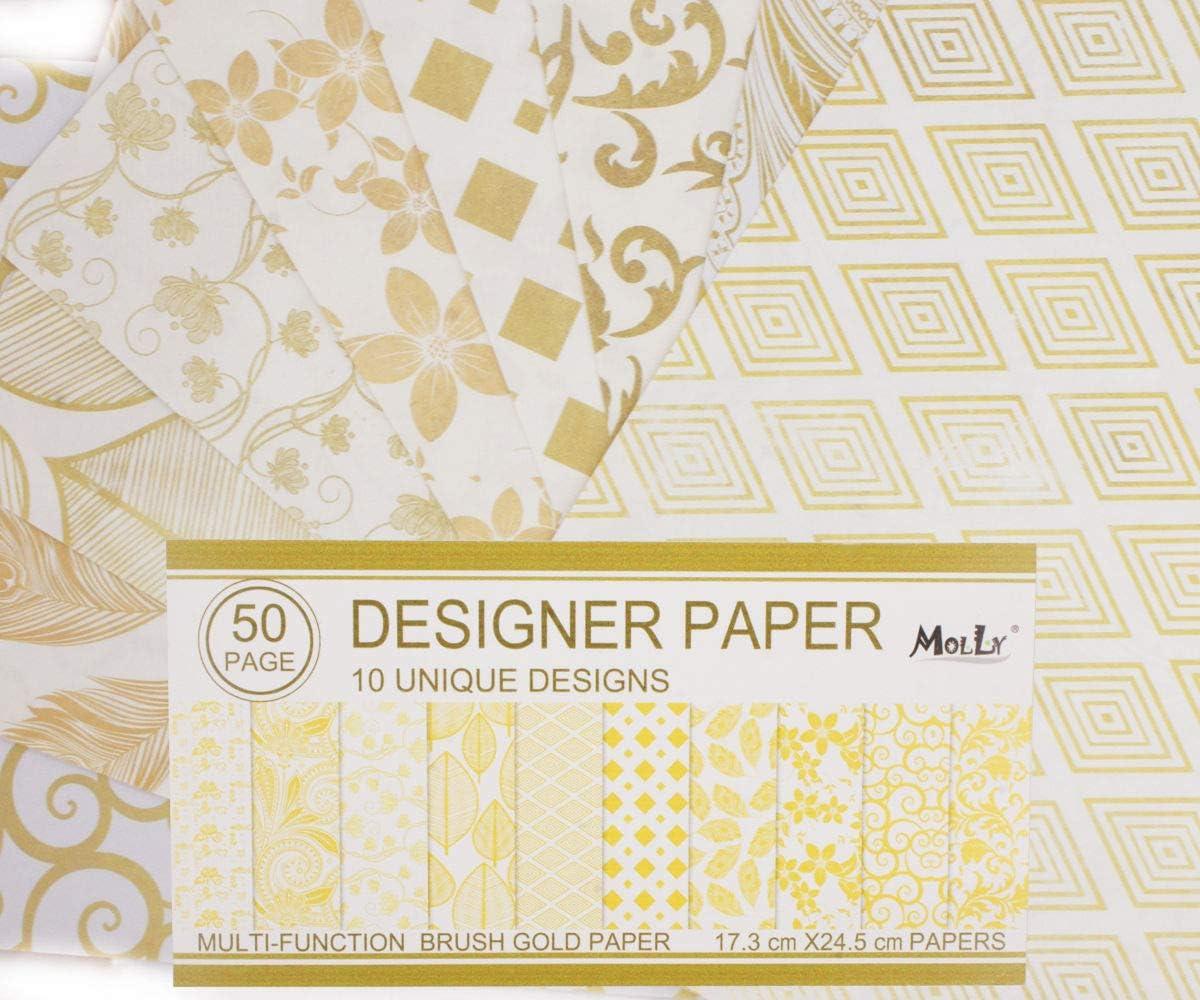 Multicolour 25 x 25 x 0.6 cm Kaisercraft Malbuch Geo Gems Paper