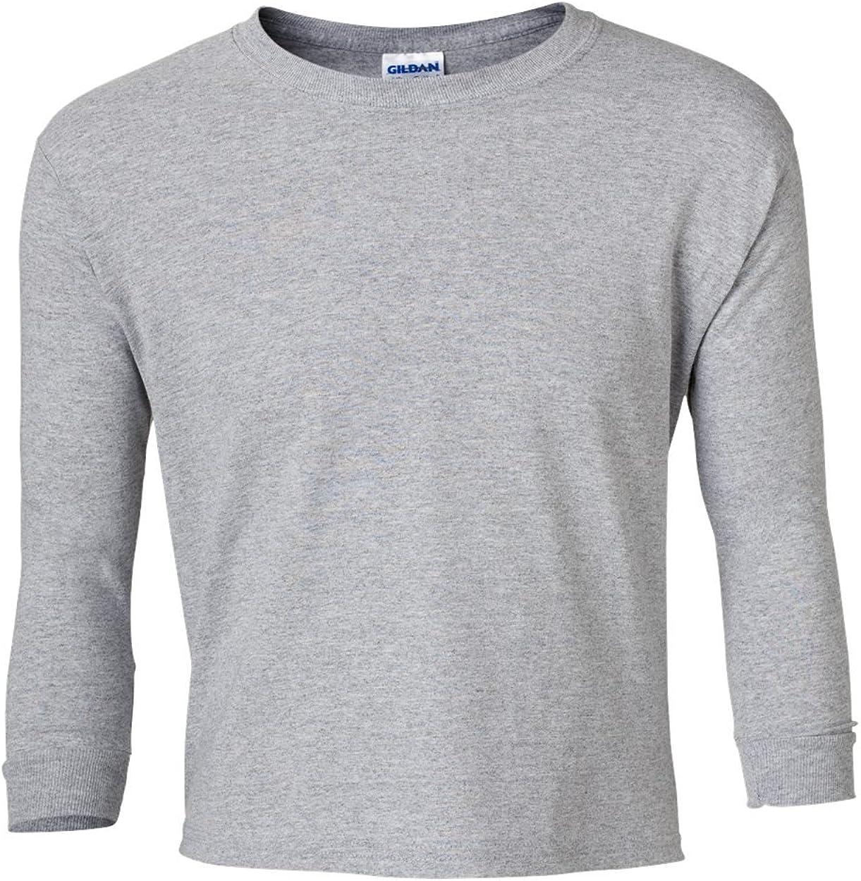 Gildan Ultra Cotton Youth 6 oz. Long-Sleeve T-Shirt (G240B) SPORT GREY