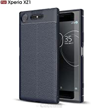 Cocomii Ultimate Armor Sony Xperia XZ1 Case New [Heavy Duty] Premium Tactical Leather Pattern Grip Slim Fit Shockproof Bumper [Military Defender] Full Body Cover for Sony Xperia XZ1 (Ul.Deep Blue)