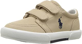 Polo Ralph Lauren Kids Boys' Faxon II Sneaker Khaki Cotton 5 M US Toddler