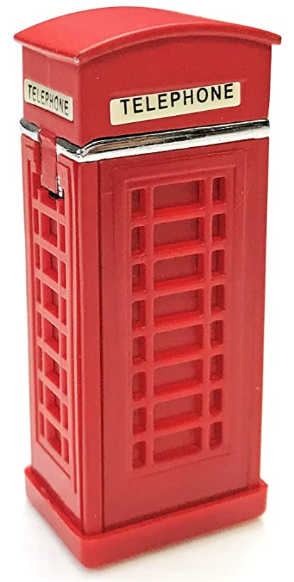 Eclipse Collectible Novelty Phone Booth Design Windproof Refillable Lighter, 1394
