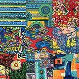 ASNOMY 10Pcs Patchwork-Stoff mit Blumenmuster, 45 x 55 cm