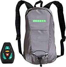 LED Turn Signal Backpack Light Reflective Vest 15L Capacity Outdoor Sports Bag Flashing Warning Lamp Security Pack with Wi...