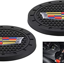 AOOOOP Car Interior Accessories for Cadillac Cup Holder Insert Coaster - Silicone Anti Slip Cup Mat for Cadillac XT4 XT5 XT6 Escalade CT5 CTS XTS CT6 ATS (Set of 2, 2.75