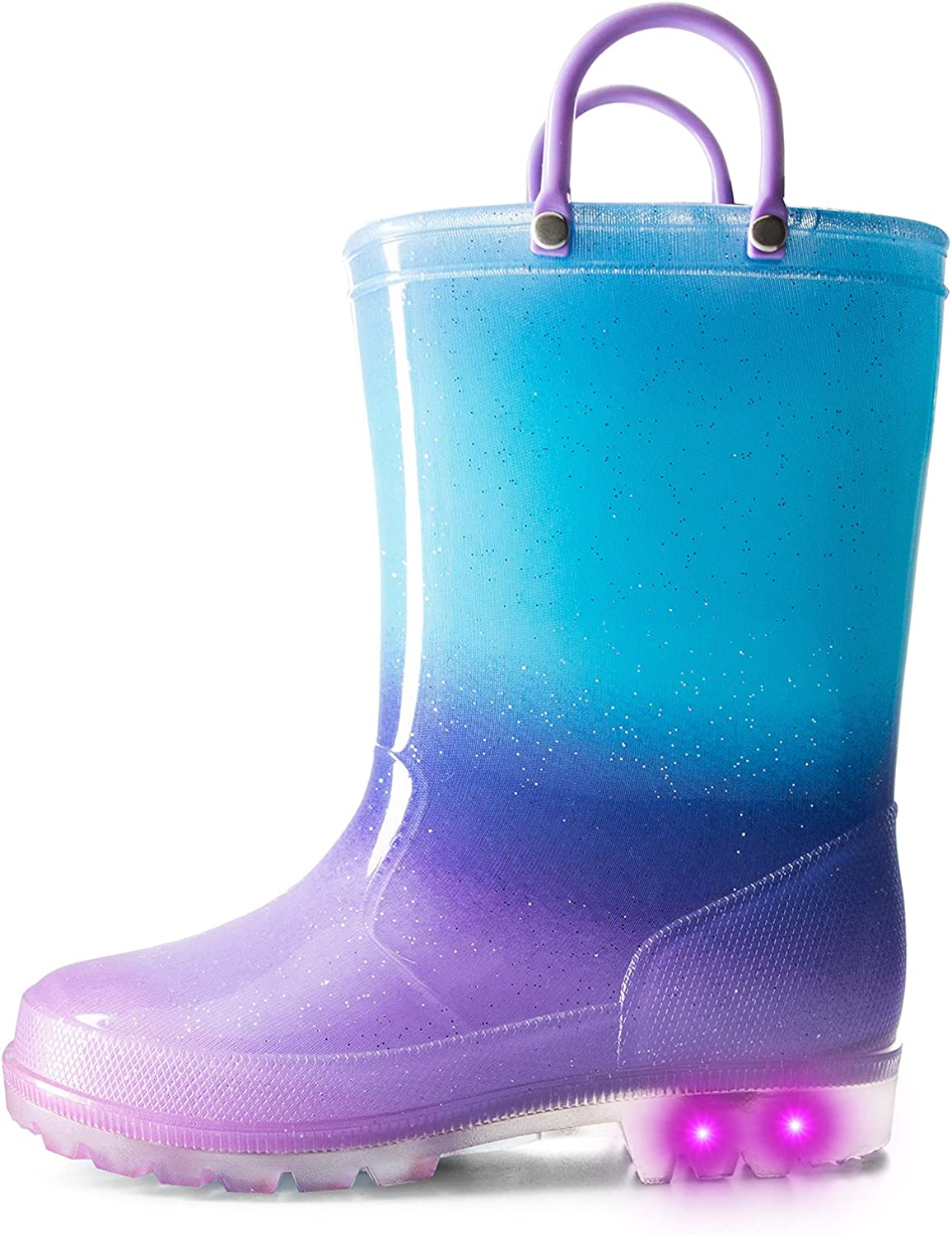 K KomForme Toddler outlet Light Up Ranking TOP13 Glitter Rain Patterns Boots and