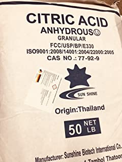Citric Acid USP/FCC GRADE 99% Min. Purity 50lb bag
