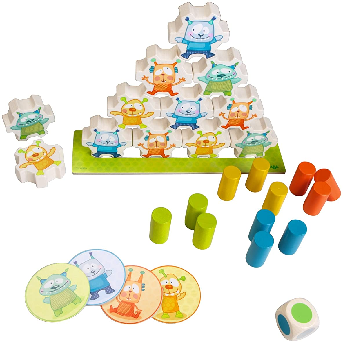 HABA Mini Monsters Wooden Stacking Game for Ages 2 and Up (Made in Germany)
