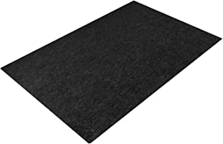 Together-life Fire Resistent Fireplace Hearth Rug, Rectangular Hearth Pad Polyester Trim Non Slip Mat Protects Floors Patio from Sparks Embers (72