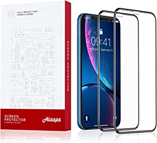 AINOPE [2-Pack] Screen Protector Compatible Apple iPhone XR (6.1 inch), [Full Coverage] [Case Friendly] [6X Strong] for iPhone 10r Screen Protector, Apple iPhone 6.1 inch IPXr (2018)