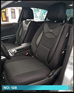 Ma/ß Sitzbez/üge kompatibel mit Mitsubishi Eclipse Cross Fahrer /& Beifahrer ab BJ 2018 Farbnummer PL402