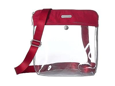 Baggallini Legacy Stadium Bags Clear Pocket Crossbody (Red) Cross Body Handbags
