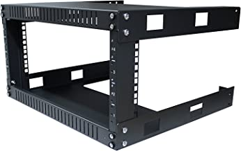 Kenuco 4U Wall Mount Open Frame Steel Network Equipment Rack 17.75 Inch Deep