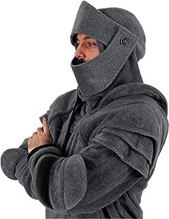 Abrigo Hombre Invierno,Disfraz de Armadura de Caballero con Capucha de Medieval para Hombre Sudadera de Manga Larga con Capucha y Bolsillos