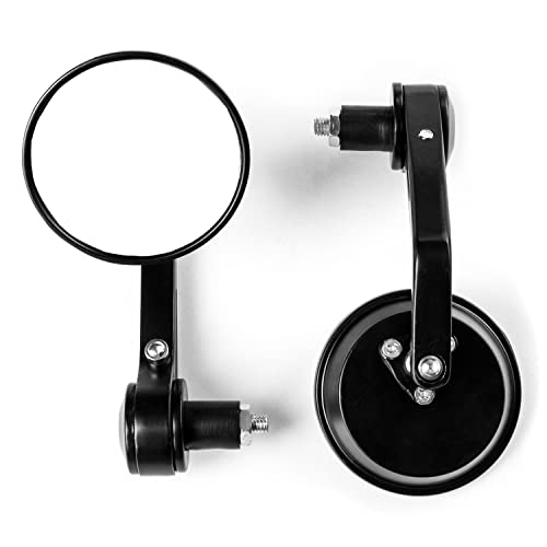 Krator Universal Round Bar End Mirrors Over Under Handlebars For 7/8