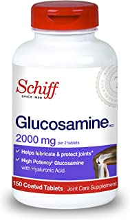 Schiff Glucosamine With Hyaluronic Acid, 2000mg Glucosamine, Joint Care Supplement Helps Lubricate & Protect Joints*, 150 Count