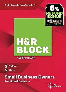 [OLD VERSION] H&R Block Tax Software Premium & Business 2018 with 5% Refund Bonus Offer [Amazon Exclusive] [PC Download]