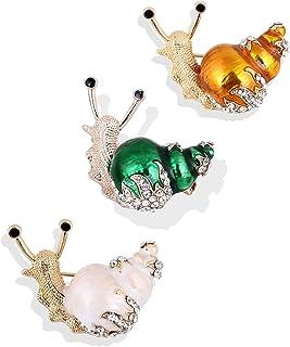 CAILI Broche de Caracol,Lindo Broche de Insectos,Broche con Incrustaciones de Aleación,Accesorios de Vestido de Noche, Acc...