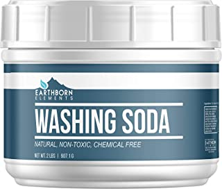All-Natural Washing Soda (2 lb (32 oz)) by Earthborn Elements, Resealable Tub with Scoop, Soda Ash, Sodium Carbonate, Laun...