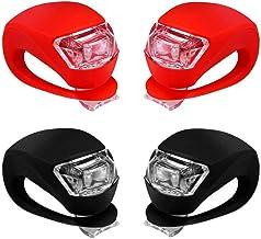 Sayla 4 Stück LED Lampe LichtKinderwagen Licht Kinderwagen Sicherheitslicht Silikon Leuchte Kinderwagen Blinklicht Taschenlampe für Kinderwagen Bergsteiger Kinderwagen-Zubehör