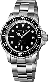 Men's Japanese Quartz Ten-Year Battery 1000 m Diver Stainless Steel Shell with Sapphire Glass and Helium Valve
