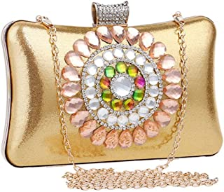 Fine Bag/Women's Vintage Style Beaded and Sequined Evening Bag Wedding Party Handbag Clutch Purse Banquet Bag (Color : Gold, Size : One Size)
