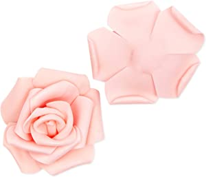 Bright Creations Artificial Rose Flower Heads (4 Colors, 100 Pack)