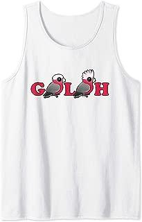 Cute Cartoon Galah Pink Parrots Bird Lover Gift Idea Tank Top