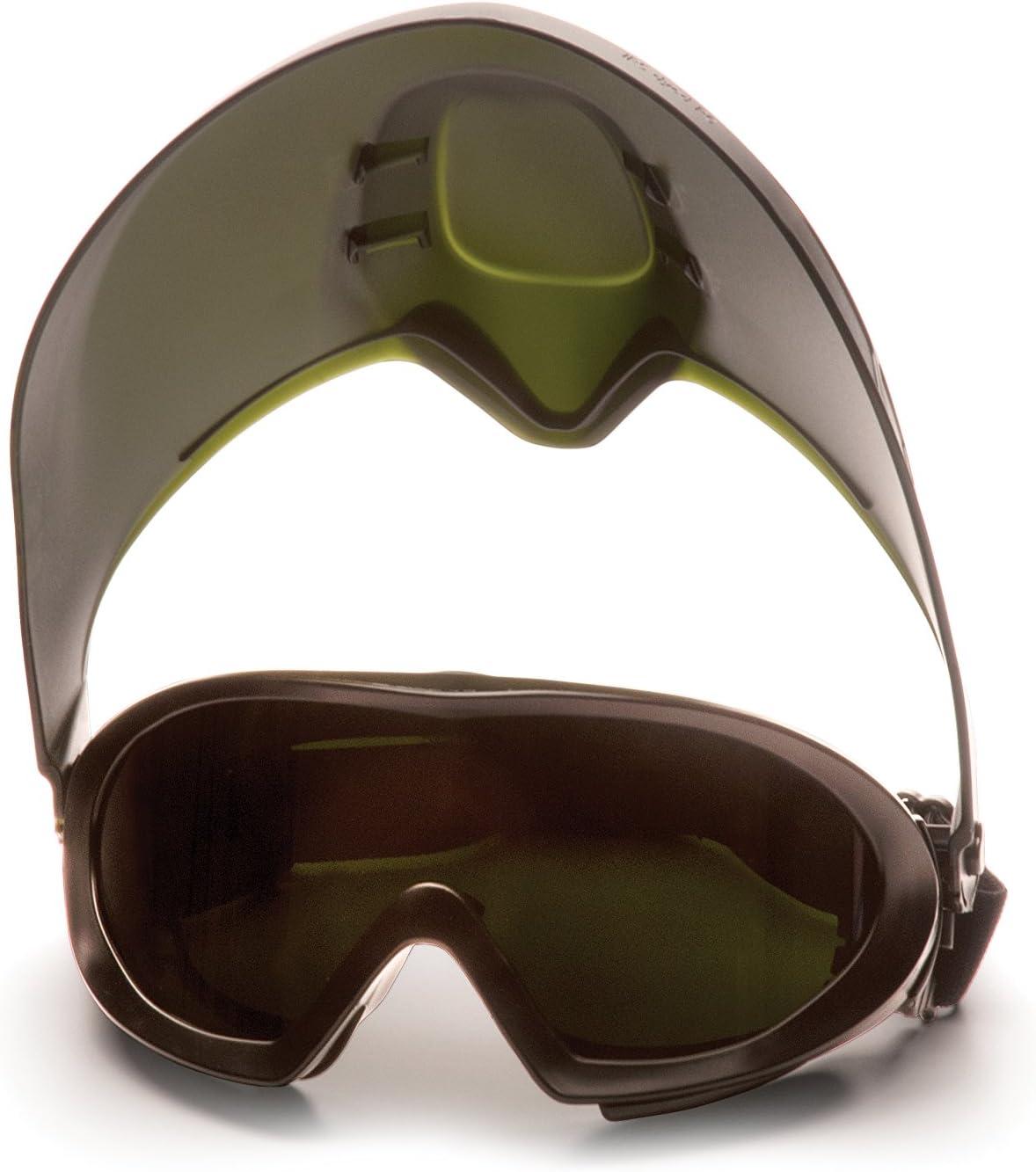 Pyramex Capstone Shield Goggles 12-Pack Clear H2X Anti-Fog Lens