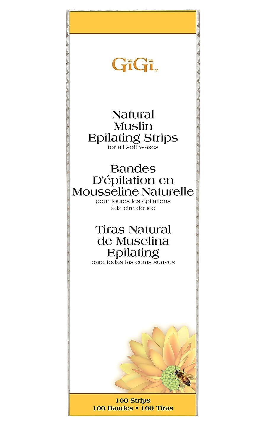 GiGi Natural Muslin Epilating Strips for Hair Waxing/Hair Removal, 100 Large Strips