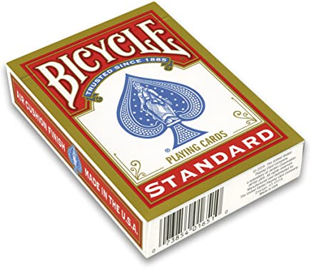 Toyland Bicycle Red Deck Poker Size Index Playing Cards (Multicolour)