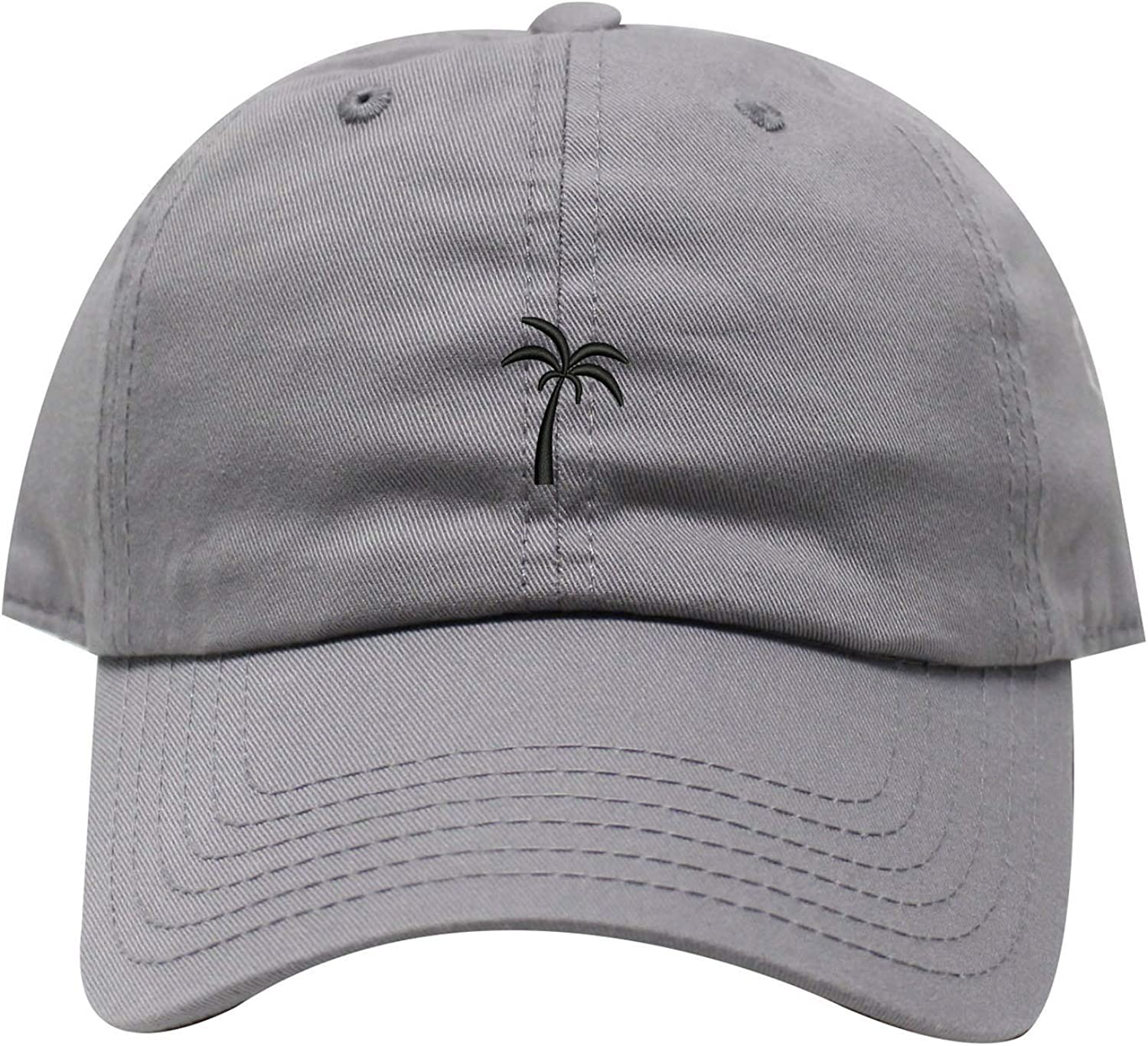 INK STITCH Palm Tree Summer Unstructured Cotton Baseball Caps 21 Colors