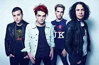 My Chemical Romance MCR Gerard Way, Frank Iero, Mikey Way, Ray Toro, Bob Bryar, Matt Pelissier, James Dewees 12 x 18 inch Poster