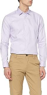 Marchio Amazon - MERAKI Camicia Slim Fit in Cotone Elasticizzato a Manica Lunga Uomo