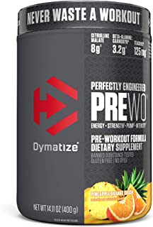 Dymatize PreW.O., Pre Workout Powder with Caffeine, Maximize Energy, Strength & Endurance, Amplify Intensity of Workouts, ...