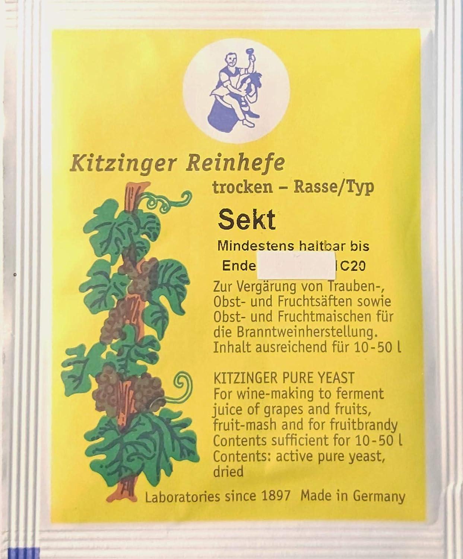 Kitzinger - Campana elevadora de vino – Levadura seca   Levadura de fermentación   Levadura nutritiva   Levadura Mead   Nutritivo   Levadura rápida   Levadura de cerveza   Productos oenológicos