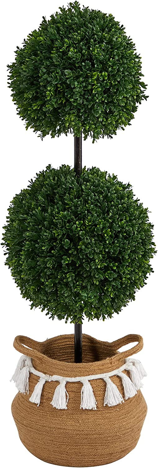 3.5ft. Boxwood Double Ball Artificial Topiary low-pricing Chic Tree in Boho Regular dealer