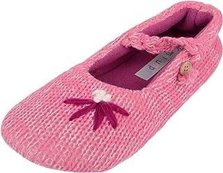ABSOLUTE FOOTWEAR Ladies/Womens Slip On Slippers/Pumps with Attractive Flower Detail
