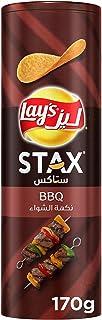 Lays Stax BBQ Potato Crisps, 170 gm, 95370646