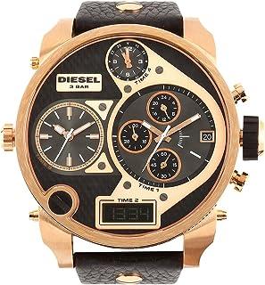 Diesel Men'S Black Dial Leather Band Watch - Dz7261I,