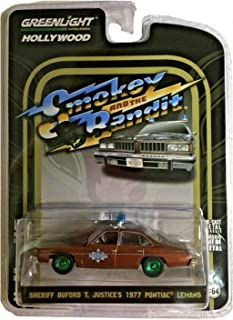 Green Machine 44780-B Smokey and The Bandit - Sheriff Buford T. Justice's 1977 Pontiac Lemans 1:64 Scale Greenlight Chase