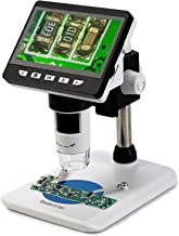 Koolertron 4.3 inch LCD Digital USB Microscope 1080P 50X-1000X Magnification Zoom Handheld Endoscope Inspection Camera Video Recorder,8 LED Adjustable Light,Rechargeable Lithium Battery