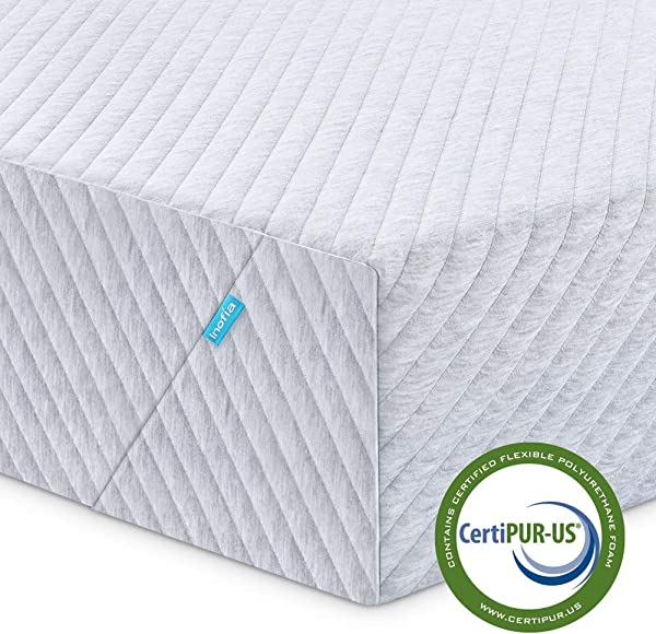 Full Mattress Inofia 8 Inch Memory Foam Mattress In A Box Sleep Cooler With More Pressure Relief Support CertiPUR US Certified 100 Nights Trial 10 Years Warranty