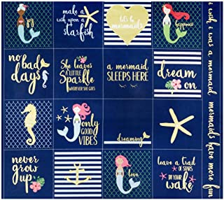 Riley Blake Designs Riley Blake Lets Be Mermaids 36'' Panel Sparkle Navy