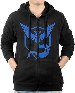 Men's Long Sleeve Zip Up Hoodie Sweatshirt With Pockets Team Mystic