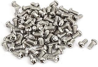 M2 十字穴付ネジ プラスヘッドボルト ネジボルト 304ステンレス鋼 100本入 (M2 x 4mm)