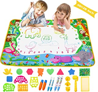 Aqua Magic Doodle Mat Extra Large Water Drawing Coloring Mat Mess Free Educational Kids Toy Gifts for Toddles Boys Girls 3...